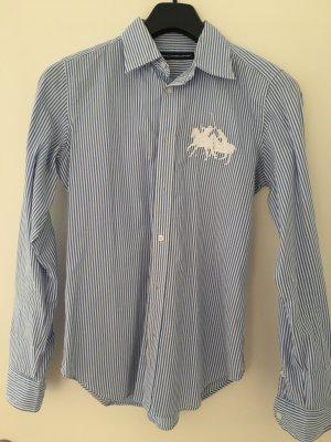 Bluse Ralph Lauren US Größe 8 (38) hellblau Weiß Gestreift