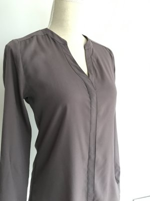 Rich & Royal Stand-Up Collar Blouse grey lilac mixture fibre