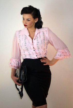 Bluse - Rock, komplett, elegant Business, rosa - schwarz