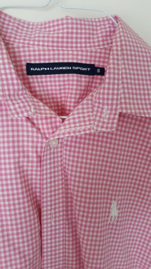 Ralph Lauren Sport Checked Blouse white-pink