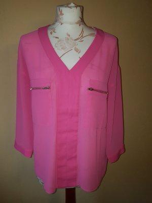 Bluse rosa mit dreiviertel Ärmeln und Brusttaschen, tolle Details, mit Etikett