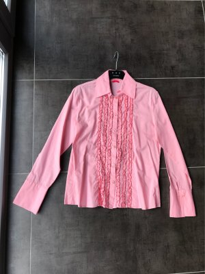 Bluse rosa rüschen gr. 38