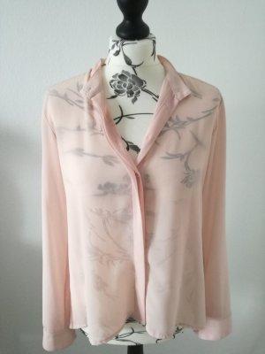 Bluse rosa transparent