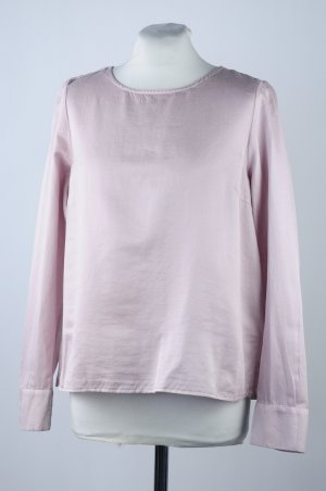 """Bluse rosé Baumwollseide mit Rüsche von """"like a bird"""", Größe 36, 38, 40 - neu"""