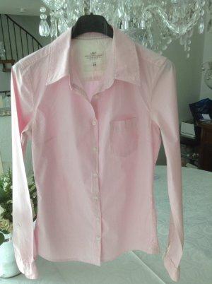 Bluse / rose-weiß gestreift / Gr. 34 XS / H&M