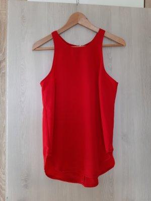 Mouwloze blouse rood-baksteenrood