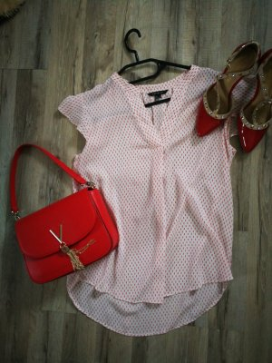 Bluse rot Weiss Cortefiel S