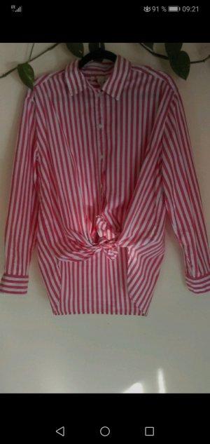 Bluse rot-weiß gestreift