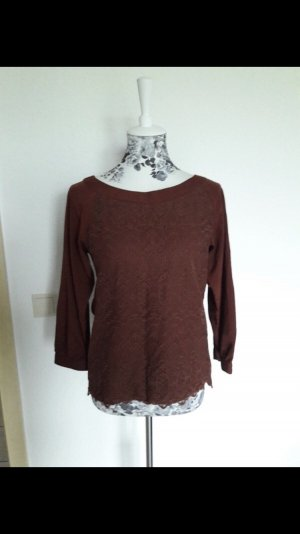 H&M Lace Blouse brown red
