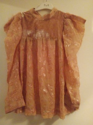 Bluse Samt Apricot Trend