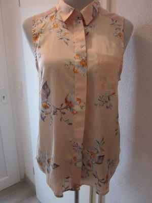 Mouwloze blouse veelkleurig