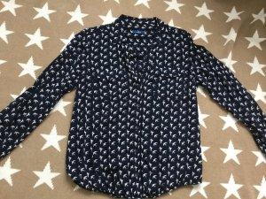 Tom Tailor Slip-over blouse wit-donkerblauw Gemengd weefsel
