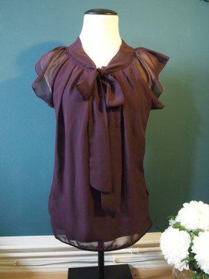 Vero Moda Blouse avec noeuds rouge mûre polyester