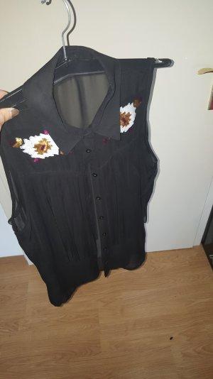 Bluse - schwarz/durchsichtig
