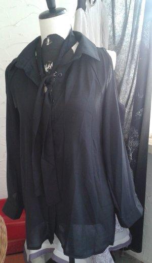 Blouse transparente noir