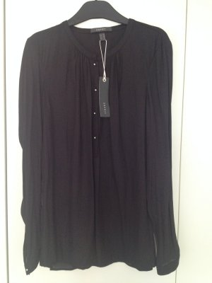 Bluse schwarz langärmlig
