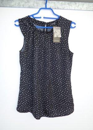 Bluse schwarz mit Blumen Gr. 38 neu mit Etikett