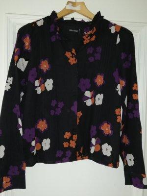 Bluse schwarz mit Blumenmuster ZADIG & VOLTAIRE Gr 38