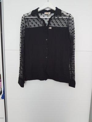 Bluse schwarz mit Punkten