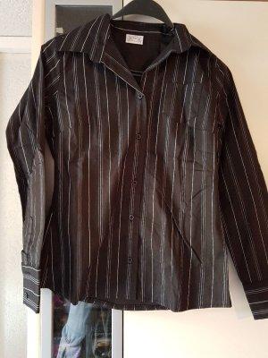 Bluse schwarz mit Streifen S/36