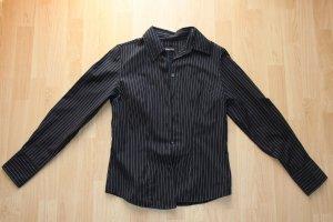 Bluse schwarz mit weißen Streifen Gr. S