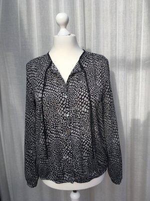 Bluse schwarz / silber / grau von Basefield XL