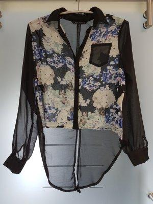 Bluse schwarz transparent