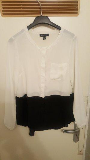 Bluse schwarz-weiß