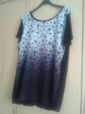 Bluse schwarz weiß gemustert