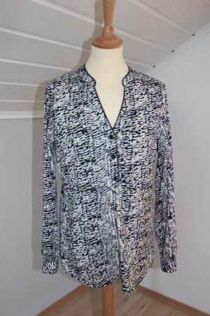 Bluse schwarz-weiß gemustert