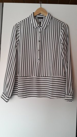 Bluse schwarz/weiß gestreift