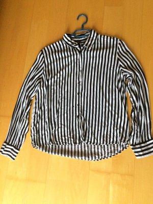 Bluse schwarz weiß gestreift neuwertig
