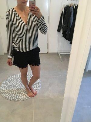 Bluse schwarz weiß gestreift Sommer xs s 34 36 Blogger Fashion