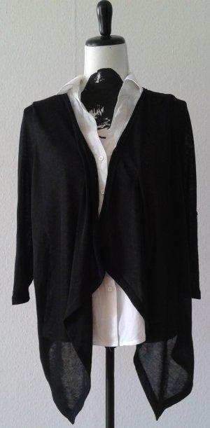 Bluse, schwarz/weiß, Gr.S