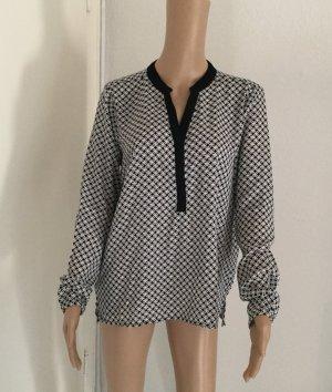 Bluse schwarz/weiß Größe 36