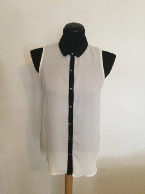 Bluse schwarz-weiß, Größe S
