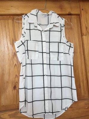 Bluse schwarz-weiß, großes Karomuster