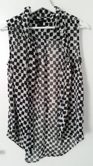 Bluse schwarz weiß H&M