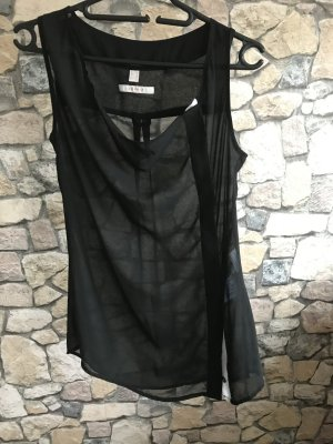 Bluse Schwarz-Weiß von Esprit Größe S