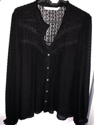 Bluse schwarz Zara