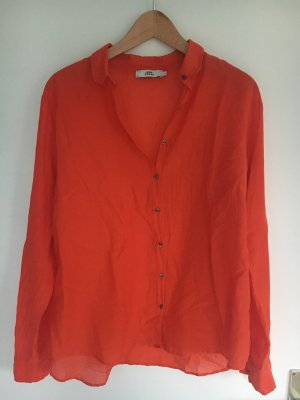 0039 Italy Silk Blouse red
