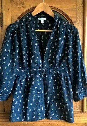 Bluse Seide Viskose Navy Gr. XS/34 Urban Outfitters Kimchi Blue