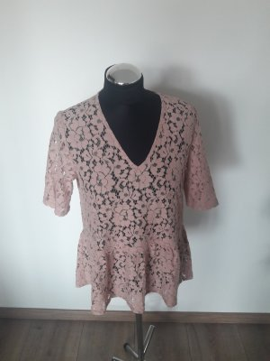 Selected Femme Lace Blouse dusky pink-pink
