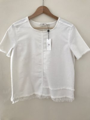 AG Jeans Denim Blouse white-natural white cotton