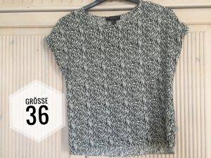 Bluse Shirt Atmosphere Größe 36 schwarz weiß