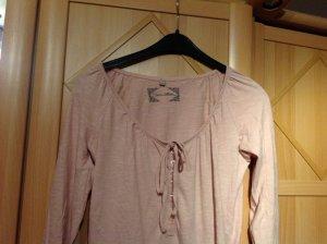 3 Suisses Camisa tipo túnica crema-rosa empolvado