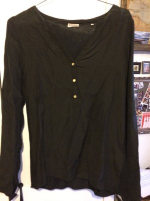 Bluse Shirt Kiomi Größe 34 Seide schwarz