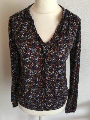 Bluse Shirt locker weich Blumenprint Gr. 36 TOP
