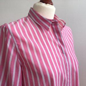 Nadine H. Blusa larga blanco-rosa