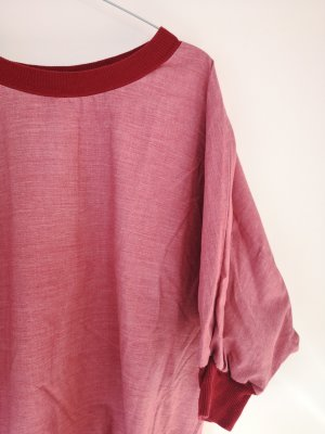 American Apparel Slip-over Blouse dark red-carmine